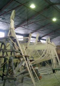 Почти собранный скелет ладьи