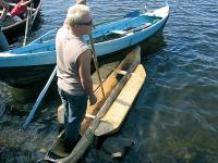 Праздник открывает прадедушка допетровского флота — осиновый челн-ушкой