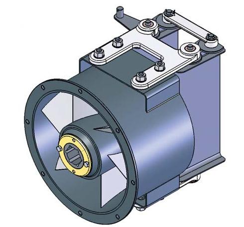 Рис. 2. Общий вид спрямляющего аппарата с лопаточным поджатием