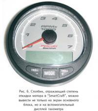 """Рис. 6. Столбик, отражающий степень откидки мотора в """"SmartCraft"""""""