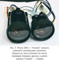 """Рис. 7. После 2001 г. """"Yamaha"""" немного изменила конструкцию указателя"""
