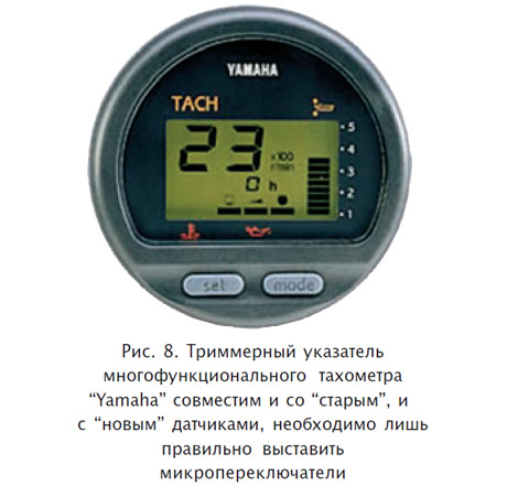 Рис. 8. Триммерный указатель многофункционального тахометра