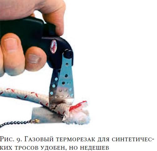 Рис. 9. Газовый терморезак для синтетических тросов удобен, но недешев