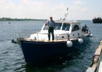 Швартовка моторной яхты