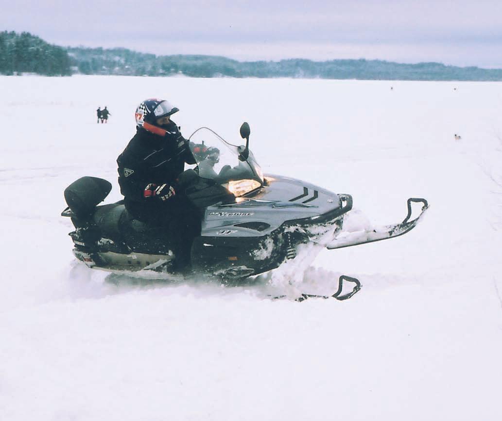 Тест снегохода