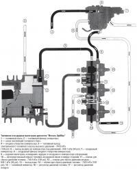 """Топливная и воздушная магистрали двигателя """"Mercury OptiMax"""""""