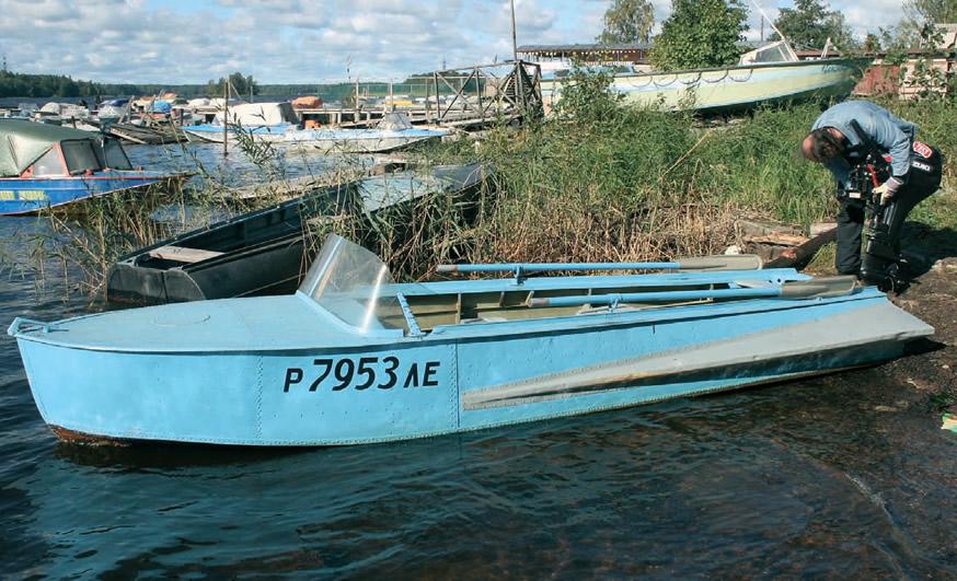 Установка мотора на лодку