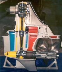 Устройство современной угловой колонки с двумя гребными винтами