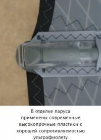 В отделке паруса применены современные высокопрочные пластики