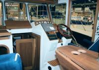 Внутри нового катера