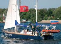 Яхта Апостол Андрей на ходу