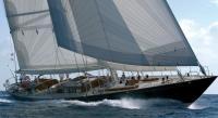"Яхта ""Maria Cattiva"" на ходу под парусами"