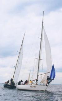Яхта Мария на дистанции