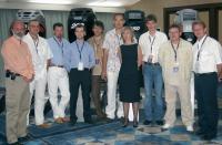 Жан-Клод Клавье (крайний слева) и его команда